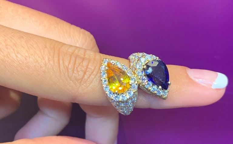 Pear Shape Sapphire and Diamond