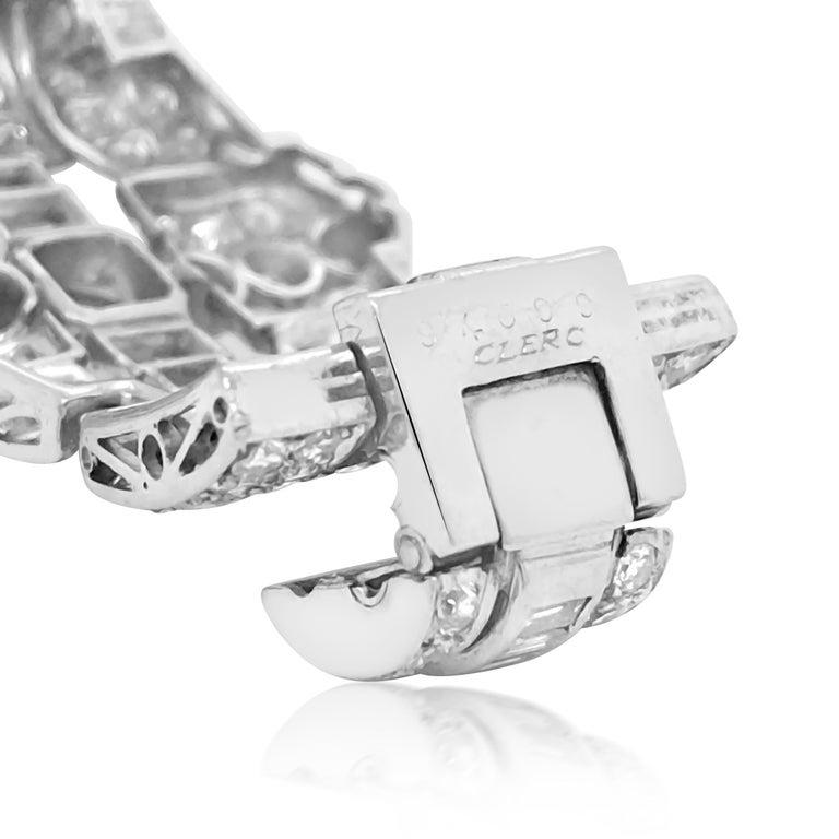 Pear-Shaped 23 Carat Emerald Bracelet, Platinum and Diamond, Clerc For Sale 3