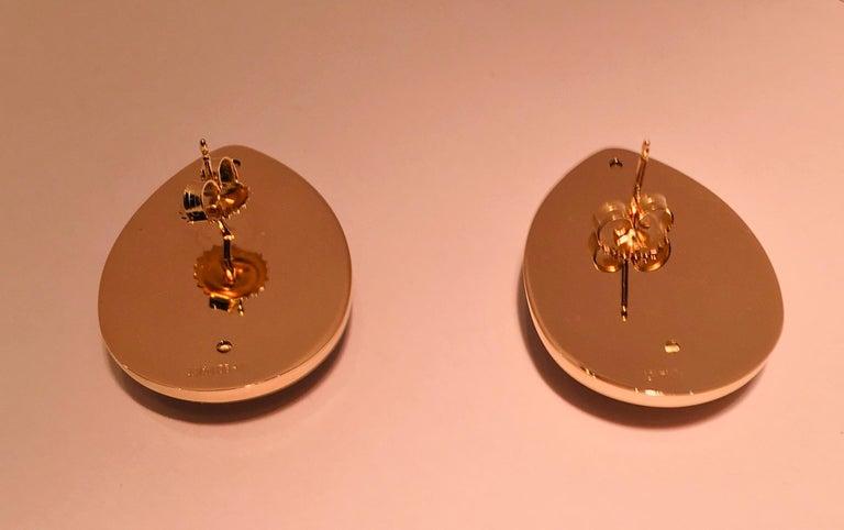 Pear Shaped Black Onyx 14 Karat Yellow Gold Earrings Peter Brams Designs For Sale 4