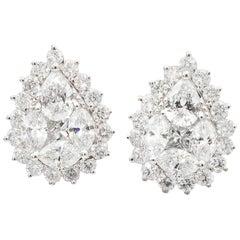 Pear Shaped Diamond Earrings '1.78 Carat'