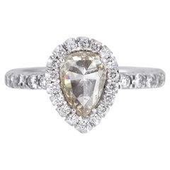 Pear Shaped Diamond Halo Ring