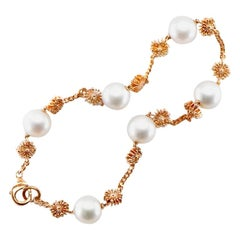 Pearl 9 Karat Rose Gold Soleil Bracelet Natalie Barney