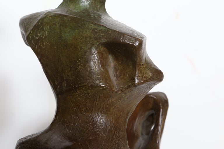 Horse and Rider, Bronze Sculpture by Pearl Amsel For Sale 7