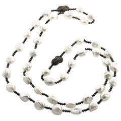 Pearl and Brown Ice Diamond Necklace