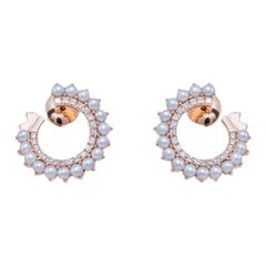 Pearl and Diamond Earrings, Gold, Ben Dannie
