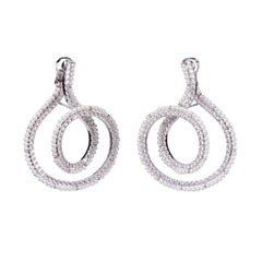 Pearl Diamond Double Swirl Earring