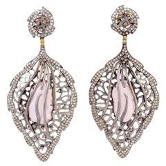 Pearl Diamond Lace Earrings
