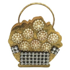Pearl, Makeup Compact, Flower Purse, 18th Century