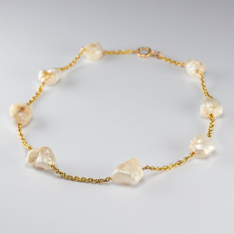Pearl Necklace of Rare Oversized Mississippi River Pearls For Sale 10