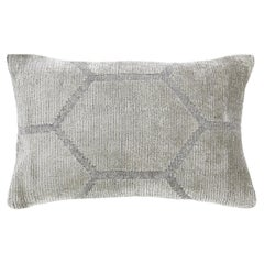 Modern Pearl Gray Geometric Throw Pillow