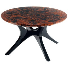 Pearl Side Table in Mahogany Wood