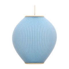 Pearlshade Blue Lamp by Lars Schioler for Danish Hoyrup Light in 1960