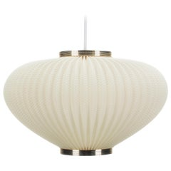 Pearlshade White Lamp by Lars Schioler for Danish Hoyrup Light in 1960