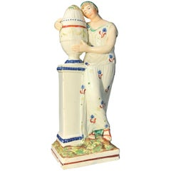 Pearlware Figure of Andromache and Hector's Urn, circa 1790