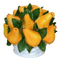 Pears Italian Majolica Centerpiece