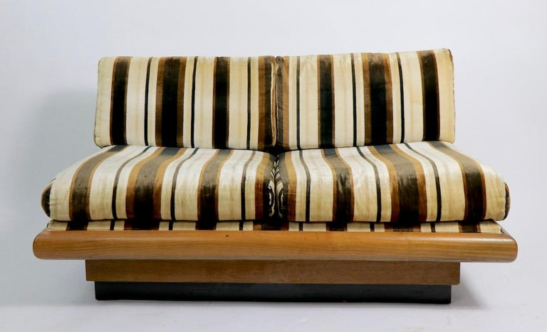 Mid-Century Modern Pearsall Loveseat Sofa Bench For Sale