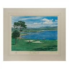 Pebble Beach Golf Print, Arthur Weaver