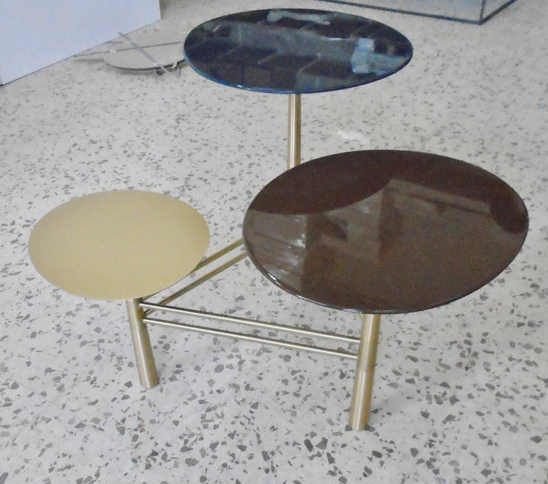 Modern Pebble Side Table by Nada Debs For Sale
