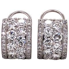Peclard Diamond Earclips in White Gold 750