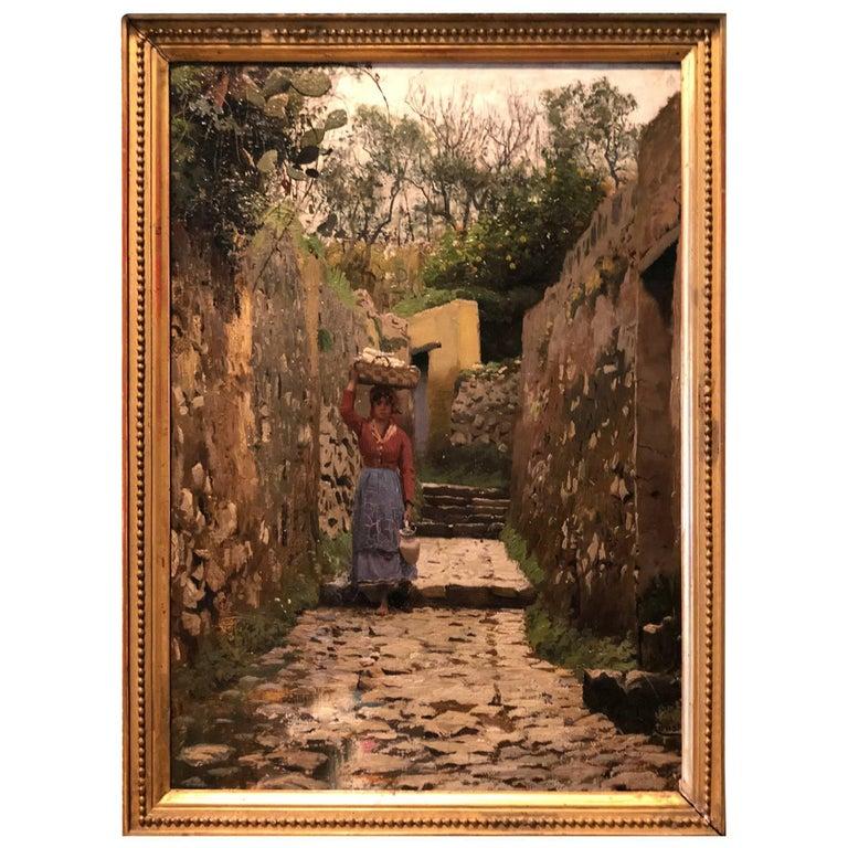 Peder Monsted Capri, 1883 For Sale