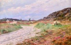 Sandvig, Bornholm - 1921 - Realist Oil, Cattle in Summer Landscape by PM Monsted