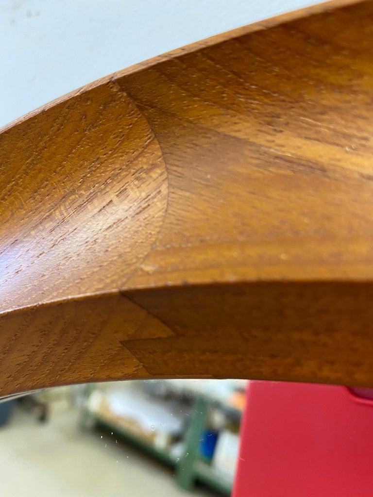 Pedersen and Hansen Round Teak Mirror Model 907 In Good Condition For Sale In Philadelphia, PA