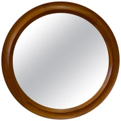 Pedersen and Hansen Round Teak Mirror Model 907