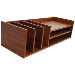 Pedersen & Hansen Danish Modern Teak Desktop Desk Organizer