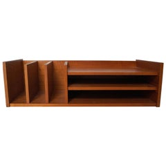 Pedersen & Hansen Danish Modern Teak Wood Desktop Mail Desk Organizer Shelf