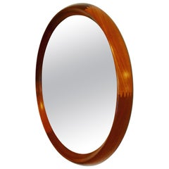 Pedersen & Hansen Large Round Teak Mirror