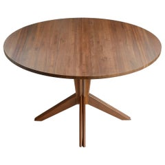 Pedestal Extension Table in Walnut by Mel Smilow
