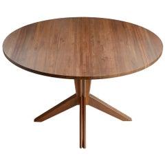 Pedestal Extension Table in Walnut by Mel Smilow