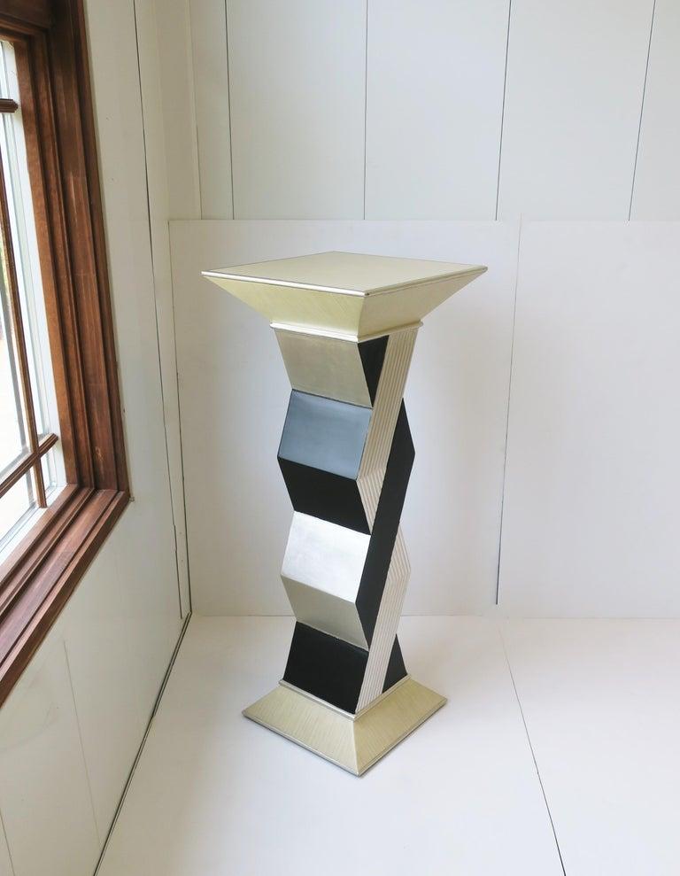 Wood '90s Pedestal Column Pillar Stand For Sale