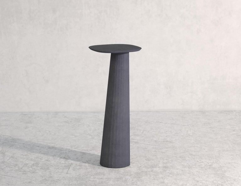 21st Century Studio Irvine Fusto Concrete Pedestal Powder Beige Cement Handmade For Sale 1