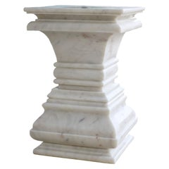Square Architectural Pedestal Side Table
