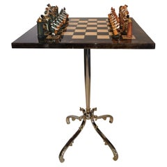 Pedestal Parchment Game Table by Aldo Tura