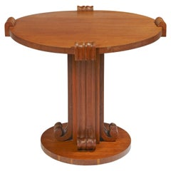 Pedestal Table by Jean-Charles Moreux, circa 1935-1936