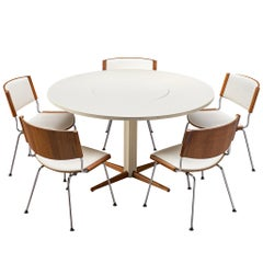 Pedestal Table by Nanna Ditzel with 5 'Badminton' Chairs, for Kolds Savvaerk