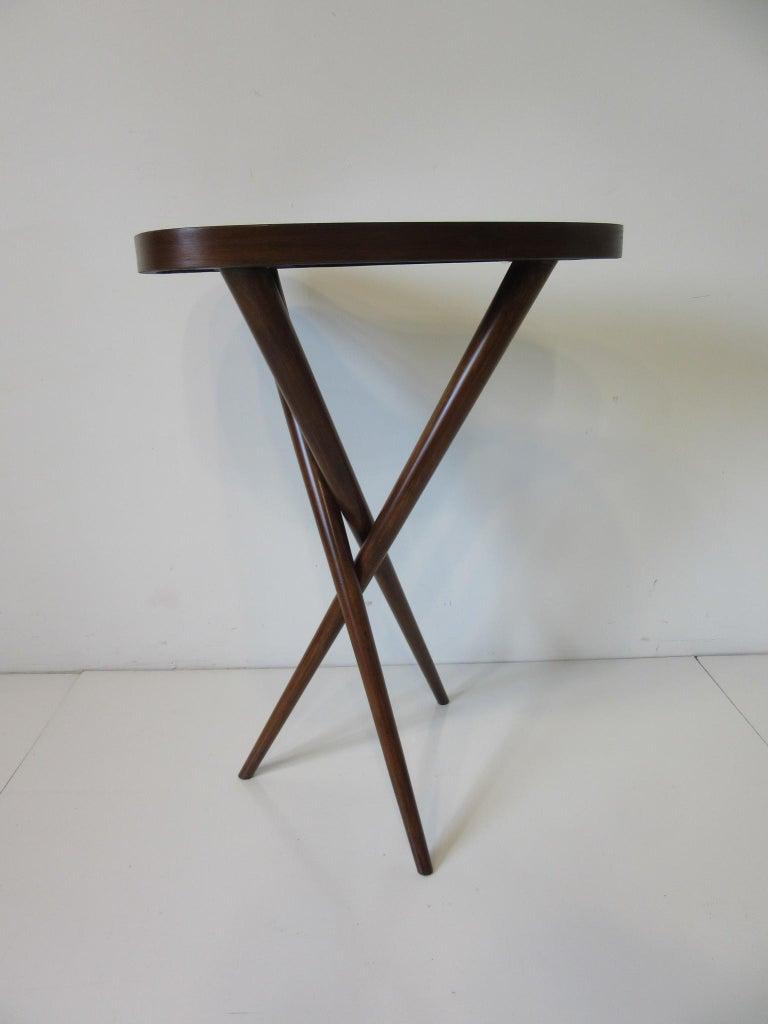 Wood Pedestal Table in the Style of T.H. Robsjohn Gibbings  For Sale