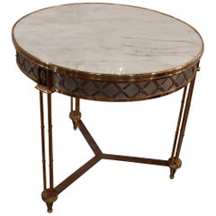 Pedestal Table attributed to Maison Jansen in the Style of Adam Weisweiler