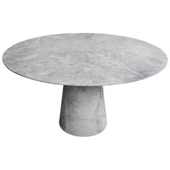 Pedestal White Marble Dining Table