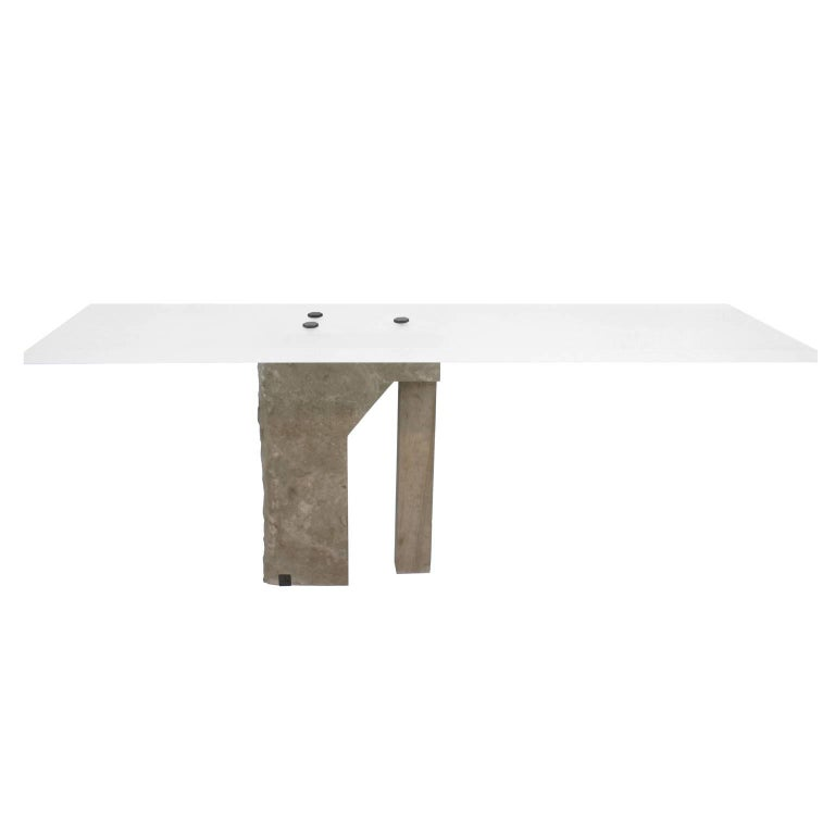Post-Modern Pedra Desk by Gustavo Neves, Brazilian Contemporary Furniture For Sale