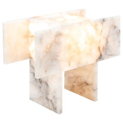 Pedrita Table Lamp, Brazilian Contemporary Design in Brazilian Quartz, Model S