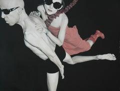 Paper 01, Pedro Bonnin, Oil on Paper, Photorealism Figurative Pop Art-Sunglasses