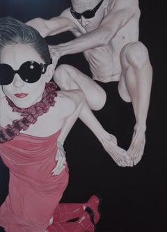 Paper 02, Pedro Bonnin, Oil on Paper, Photorealism, Figurative, Pop Art