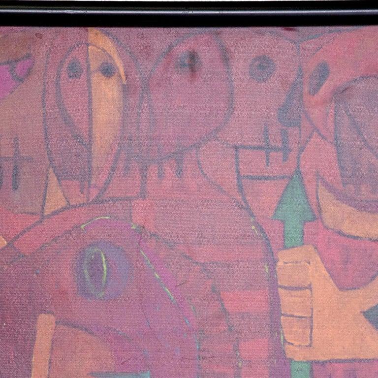 Late 20th Century Pedro Coronel Mix Media Lithograph Mexican Modernist