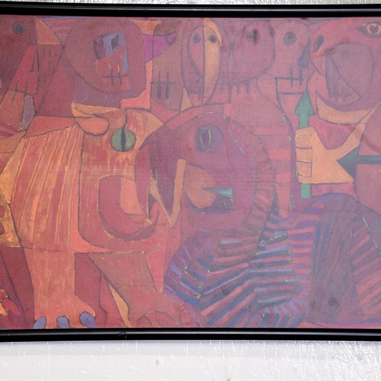 Wood Pedro Coronel Mix Media Lithograph Mexican Modernist