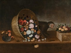 Pair of Still Life by Pedro de Camprobin, the first one signed