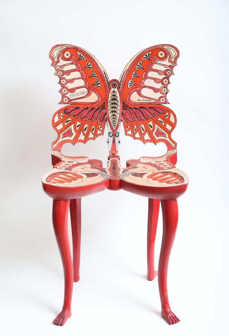 Pedro Friedeberg Butterfly Chair In Good Condition For Sale In West Palm Beach, FL