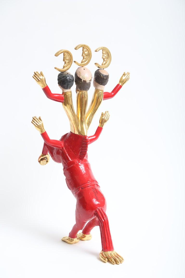Pedro Friedeberg Minotaur Sculpture In Good Condition For Sale In West Palm Beach, FL